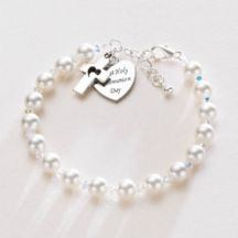 Engraved First Holy Communion Bracelet